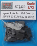 Sprockets for M4 family, HVSS D47366A, casting