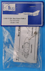 Canopy for DH Sea Vixen FAW.2, Airfix kit