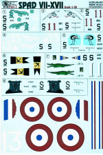 Decal for fighter Spad VII-XVII Part 1