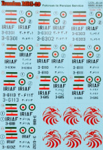Decal for MIG-29 Iranian