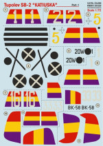 Decal for Tupolev SB -2
