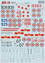 Decal for MiG-15 bis, part 2