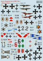 "Decal for Albatros D.III ""Austro-Hungarian Aces"", part 1"