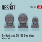 "Wheels set for De Havilland DH.110 ""Sea Vixen"""