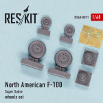 "Wheels set for North American F-100 ""Super Sabre"""