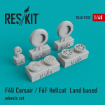 "Wheels set for F4U ""Corsair""/F6F ""Hellcat"""