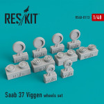 "Wheels set for Saab 37 ""Viggen"""