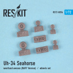 Wheels set for Uh-34 Seahorse / Westland Wessex (NAVY versions)