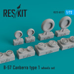 Wheels set for B-57 Canberra (type 1)