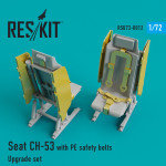Upgrade Set for CH-53 Seat with PE Safety Belts