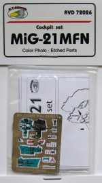 Detailing set 1/72 Mikoyan MiG-21MFN Color photo-etched parts