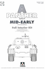 "WWII German medium Tank  Sd.Kfz.171 ""Panther"" A mid-early production w/ full interior kit"