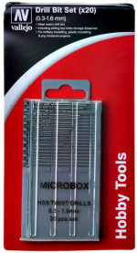Microbox drill set 0.3-1.6 mm (20 pcs)
