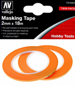 Precision Masking Tape 2 mm x 18 m, 2 pcs