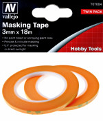 Precision Masking Tape 3 mm x 18 m, 2 pcs