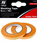 Precision Masking Tape 6 mm x 18 m, 2 pcs