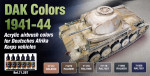 "Paint set ""D.A.K. colors 1941-1944"", 6 pcs"