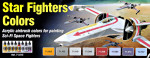 Model Air Set Star Fighters Colors, 8 pcs