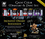 Paint Set Ironfist Dwarf Berserker Metal Figure & Game Color, 8 pcs