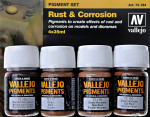 Pigments set - Rust & Corrosion, 4 pcs