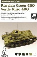 AFV Russian green 4BO armour painting system 6*8ml