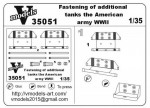 Photoetched set of details Fastening of additional Jerrycans (U.S. Army, WWII), 2 pcs