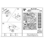 Photoetched set of details for He 111 H-3 interior set for (ICM model kit)