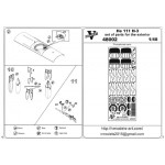 Photoetched set of details for He 111 H-3 exterior set for (ICM model kit)