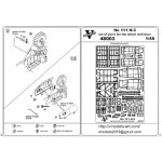 Photoetched set of details for He 111 H-3 wheel well set (ICM model kit)