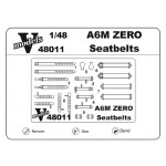 Photoetched set of details A6M Zero Seatbelts